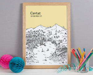 Personalised Cavtat Print