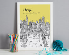 Load image into Gallery viewer, Personalised Chicago Print-6