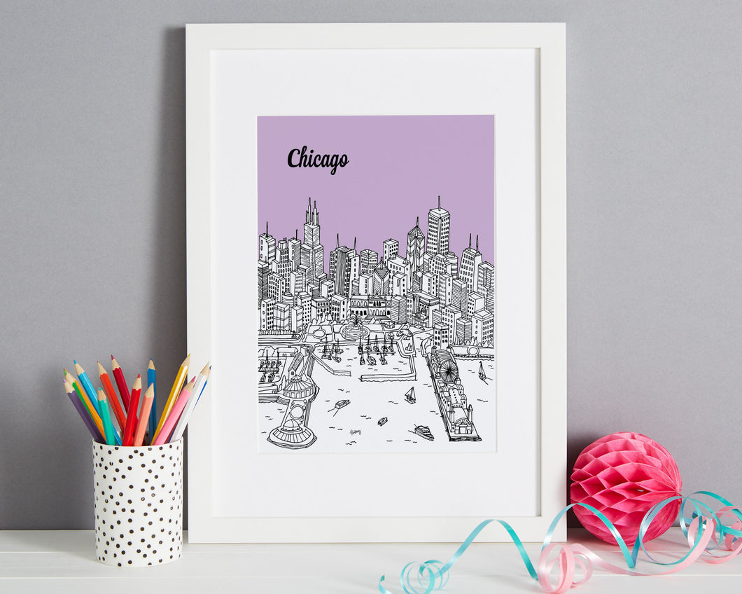Personalised Chicago Print-1