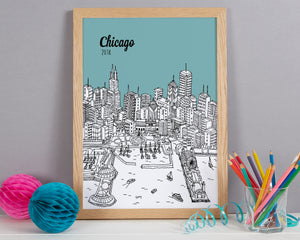 Personalised Chicago Print