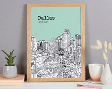 Load image into Gallery viewer, Personalised Dallas Print