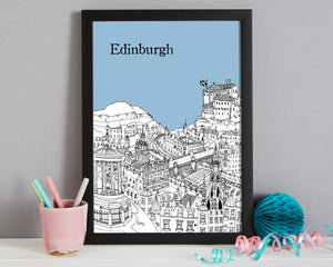 Personalised Edinburgh Print-3