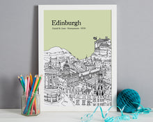 Load image into Gallery viewer, Personalised Edinburgh Print-6
