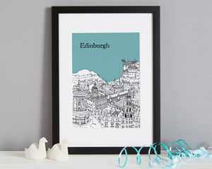 Personalised Edinburgh Print-4