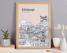 Load image into Gallery viewer, Personalised Edinburgh Print