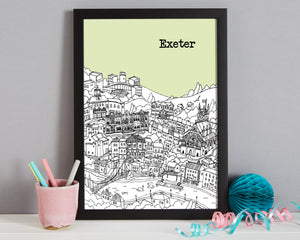 Personalised Exeter Print-7