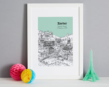 Load image into Gallery viewer, Personalised Exeter Print-1