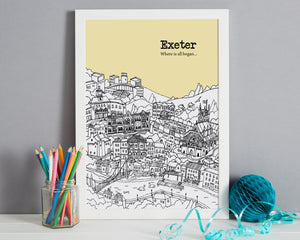 Personalised Exeter Print-5