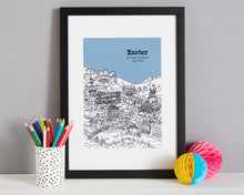 Load image into Gallery viewer, Personalised Exeter Print-4