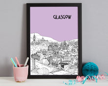 Load image into Gallery viewer, Personalised Glasgow Print-6