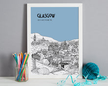 Load image into Gallery viewer, Personalised Glasgow Print-5
