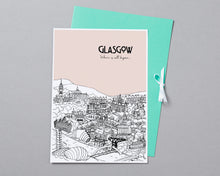 Load image into Gallery viewer, Personalised Glasgow Print-8