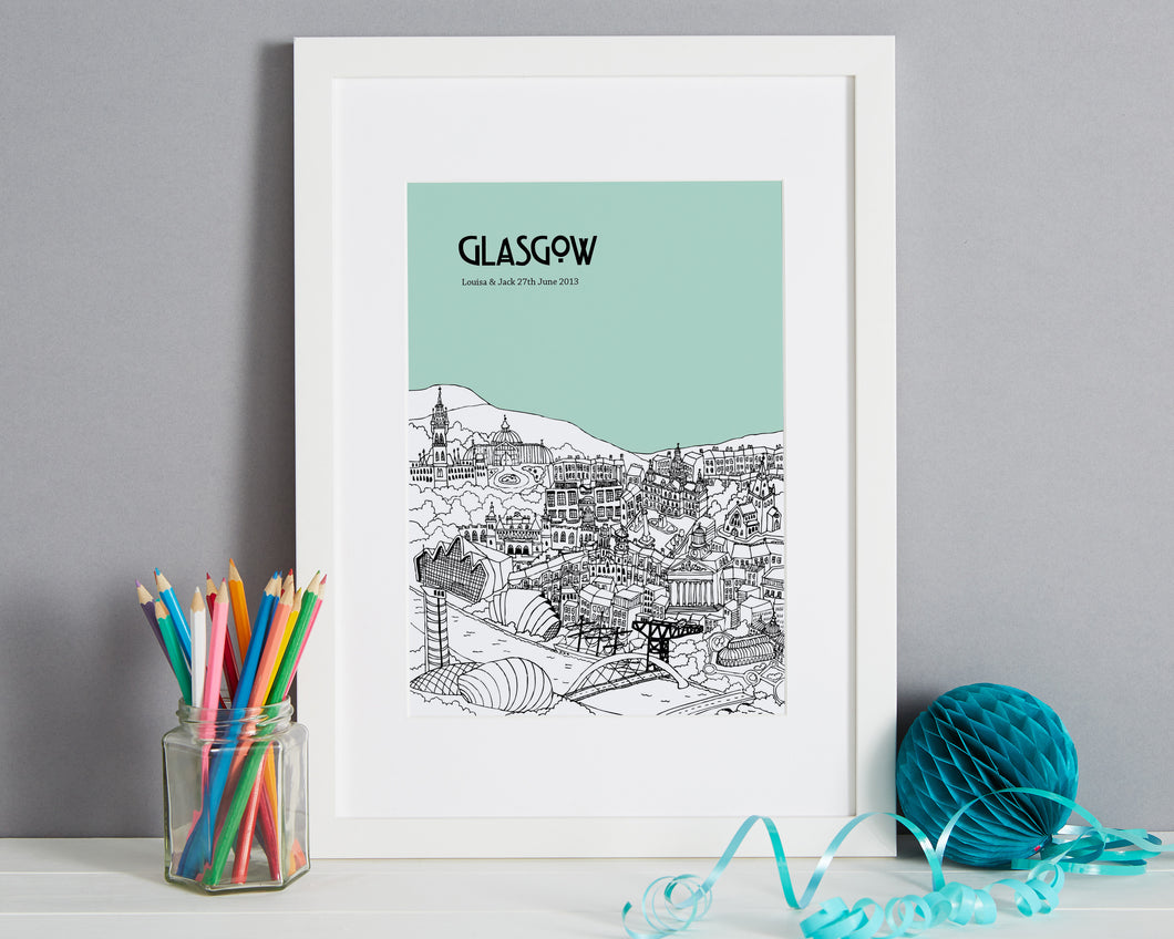 Personalised Glasgow Print-1