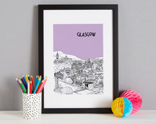 Load image into Gallery viewer, Personalised Glasgow Print-7
