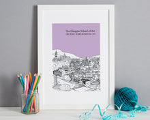 Load image into Gallery viewer, Personalised Glasgow Print-3