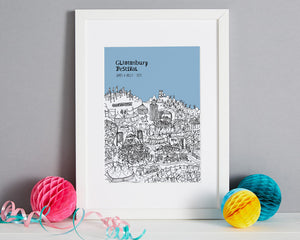 Personalised Glastonbury Print