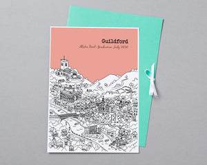 Personalised Guildford Graduation Gift