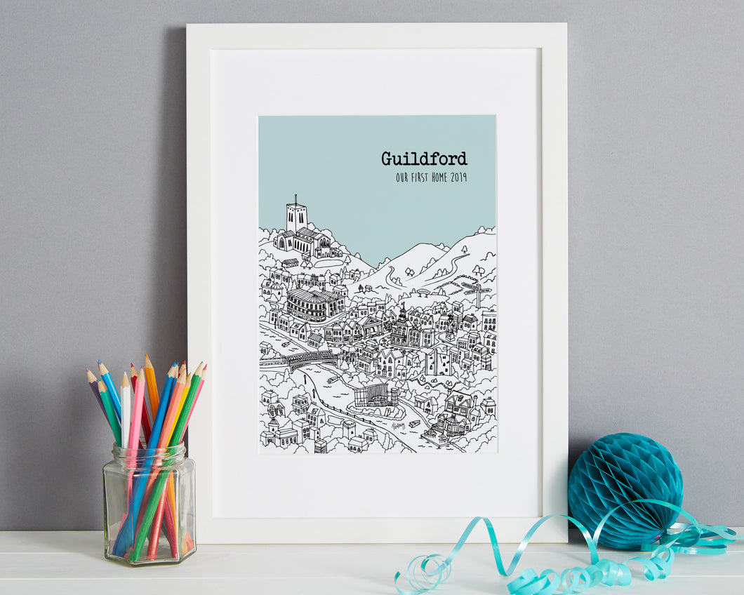 Personalised Guildford Print-1