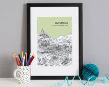 Load image into Gallery viewer, Personalised Guildford Print-3