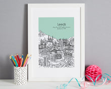 Load image into Gallery viewer, Personalised Leeds Print-1