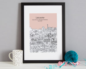 Personalised Leicester Graduation Gift