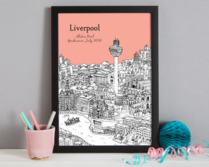 Personalised Liverpool Graduation Gift