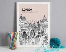 Load image into Gallery viewer, Personalised London Print-7