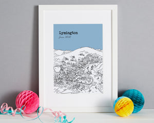 Personalised Lymington Print-5