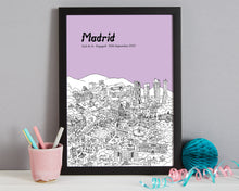 Load image into Gallery viewer, Personalised Madrid Print-7