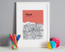 Load image into Gallery viewer, Personalised Madrid Print-6