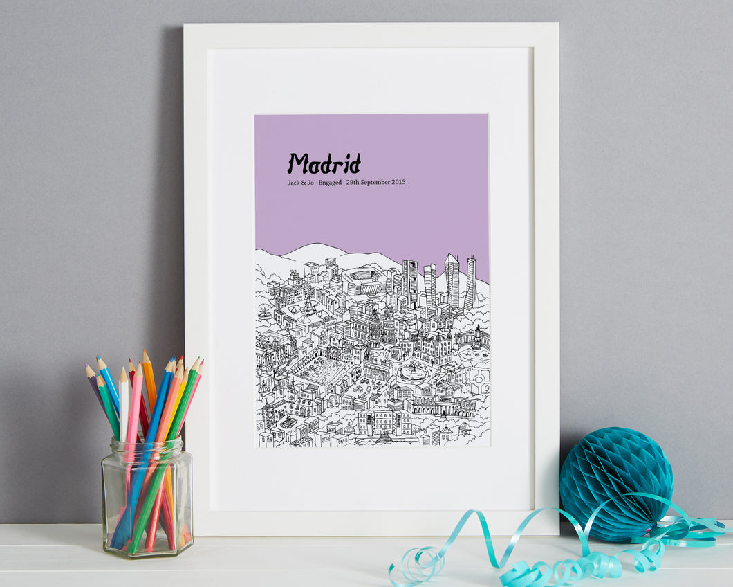 Personalised Madrid Print-1