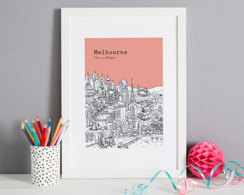 Personalised Melbourne Print-1
