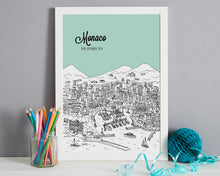 Load image into Gallery viewer, Personalised Monaco Print-7