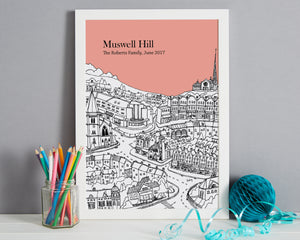 Personalised Muswell Hill Print-6