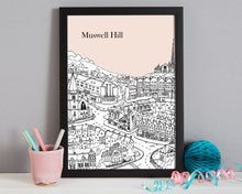 Load image into Gallery viewer, Personalised Muswell Hill Print-8