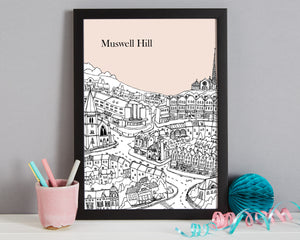 Personalised Muswell Hill Print-8