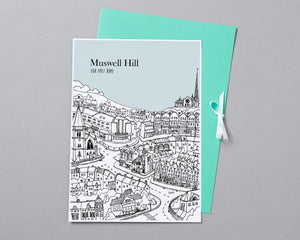 Personalised Muswell Hill Print-5