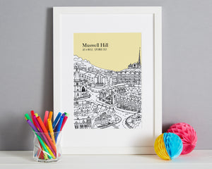 Personalised Muswell Hill Print-7