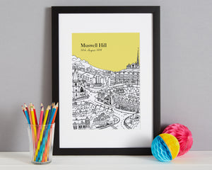 Personalised Muswell Hill Print-4