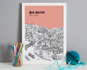 Personalised New Orleans Print-6