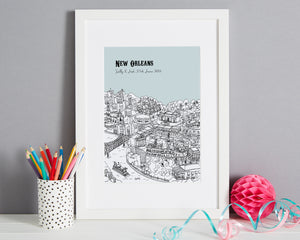 Personalised New Orleans Print-1