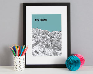Personalised New Orleans Print-4