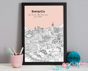 Personalised Newcastle Graduation Gift