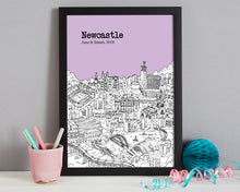 Load image into Gallery viewer, Personalised Newcastle Print-4