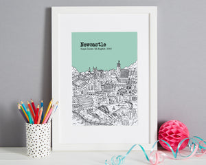 Personalised Newcastle Print-1