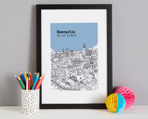 Personalised Newcastle Print-5