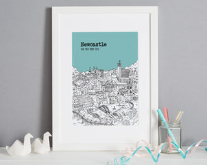 Personalised Newcastle Print-7