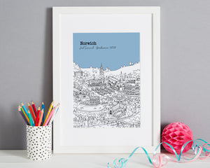 Personalised Norwich Graduation Gift