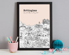 Load image into Gallery viewer, Personalised Nottingham Print-3