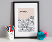 Load image into Gallery viewer, Personalised Nottingham Print-4